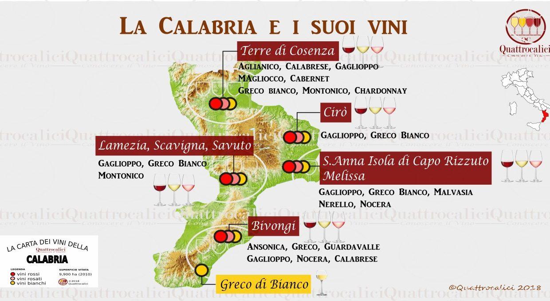 Elenco dei vini prodotti in Calabria